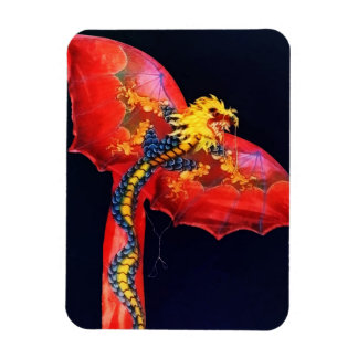 Red Dragon Kite Flexible Magnets