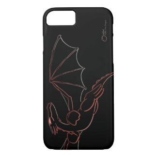Red Dragon Line Art - iPhone/iPad/Android Case