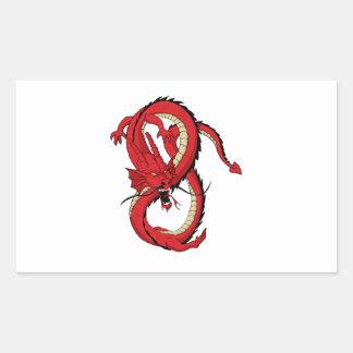 Red dragon MMA style design Sticker