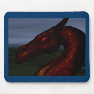 red-dragon mouse pad