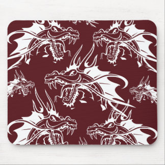 Red Dragon Mythical Creature Cool Fantasy Design Mouse Pad