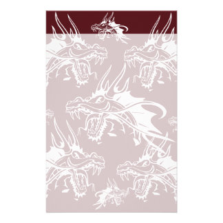 Red Dragon Mythical Creature Cool Fantasy Design Custom Stationery