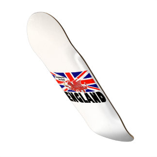Red Dragon of England in Tea Time Skateboard Deck