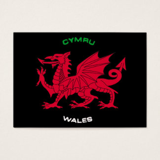 Red Dragon of Wales (Cymru),Black, White,Green Business Card