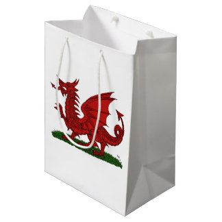 Red Dragon of Wales Medium Gift Bag