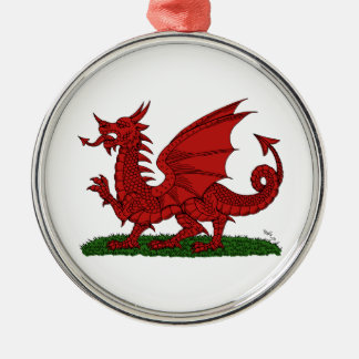Red Dragon of Wales Premium Round Ornament