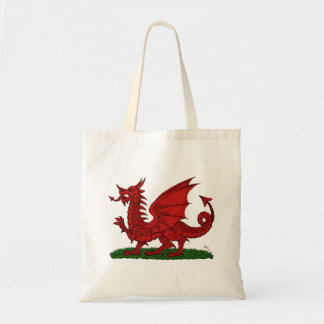 Red Dragon of Wales Tote Canvas Bag