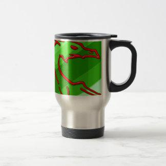 red dragon on green stripes mugs