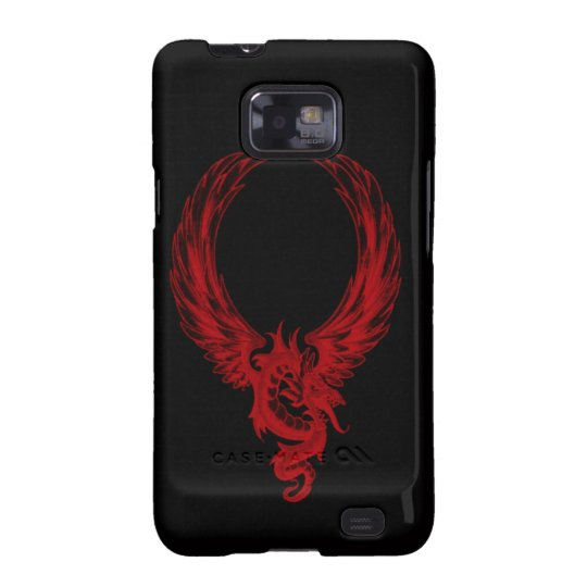 Red dragon Ryuu Samsung Galaxy Case