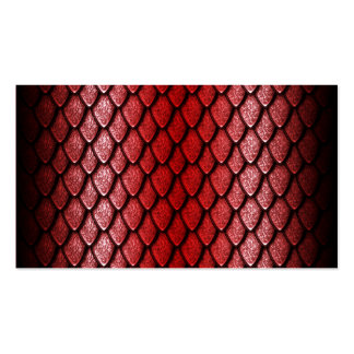 Red Dragon Scales Business Card Template