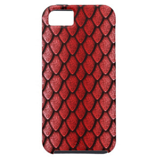 Red Dragon Scales iPhone 5 Covers