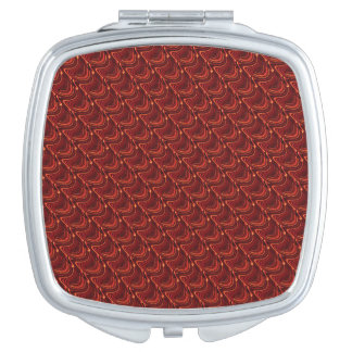 Red Dragon Scales Compact Mirror