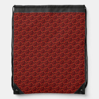 Red Dragon Scales Drawstring Backpack