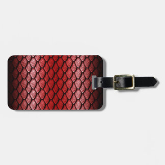 Red Dragon Scales Tags For Luggage