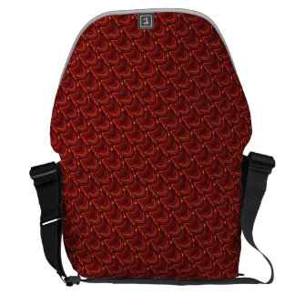 Red Dragon Scales Messenger Bag