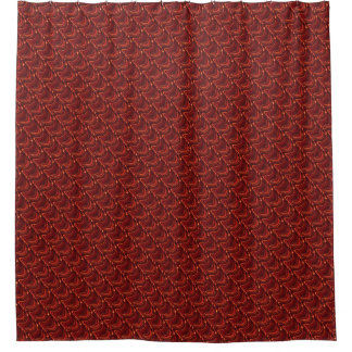 Red Dragon Scales Shower Curtain