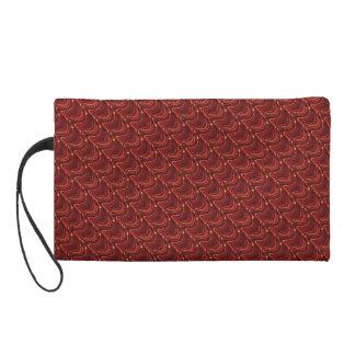 Red Dragon Scales Wristlet Bag