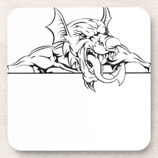 Red Dragon Sign Beverage Coasters