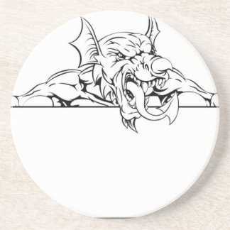 Red Dragon Sign Drink Coaster