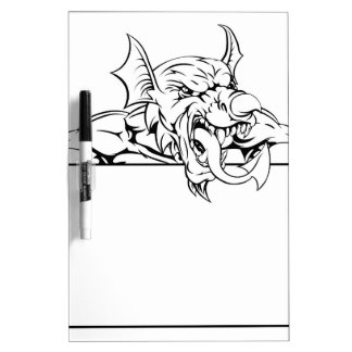 Red Dragon Sign Dry Erase Board