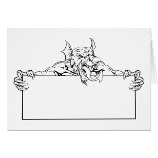 Red Dragon Sign Greeting Card