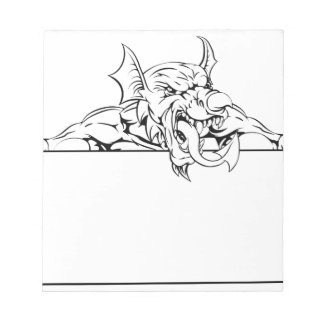 Red Dragon Sign Notepads