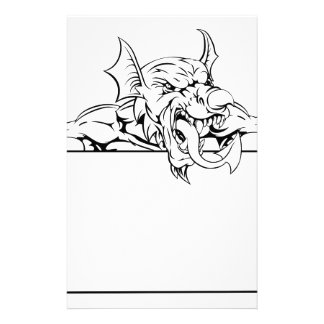 Red Dragon Sign Stationery Paper