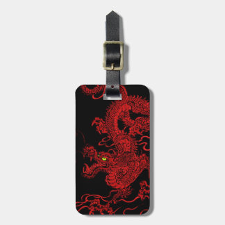 Red Dragon Travel Bag Tags