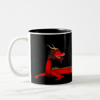 Red Dragon Two-Tone Coffee Mug