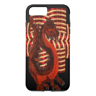 Red Dragon Warrior Armor Black Goth Steampunk Geek iPhone 8 Plus/7 Plus Case