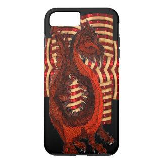 Red Dragon Warrior Armor Black Goth Steampunk Nerd iPhone 8 Plus/7 Plus Case