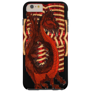 Red Dragon Warrior Armor Black Goth Steampunk Nerd Tough iPhone 6 Plus Case