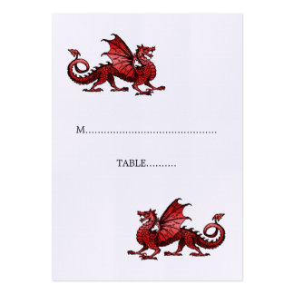 Red Dragon Wedding Place Card Pack Of Chubby Business Cards