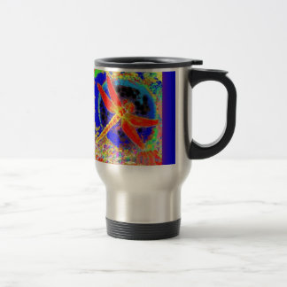 Red Dragonfly in Blue Lagoon by SHARLES Mug