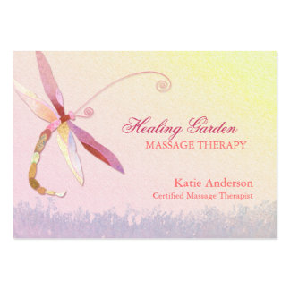 Red Dragonfly Massage Therapist Business Cards