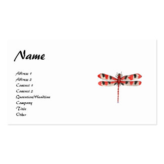 Red Dragonfly Profile Card Business Card Template