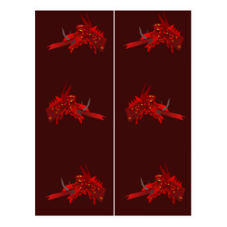 Red Dragonhead Bookmarks Postcard