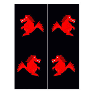 Red Dragons Bookmarks Postcard