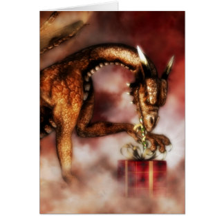 Red Dragons Christmas Greeting Card