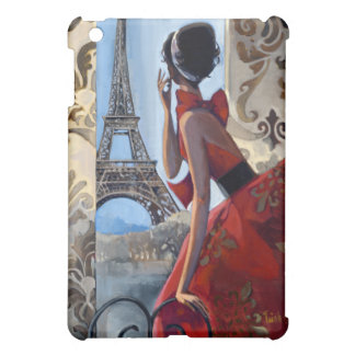 Red Dress, Eiffel Tower, Let's Go Cover For The iPad Mini