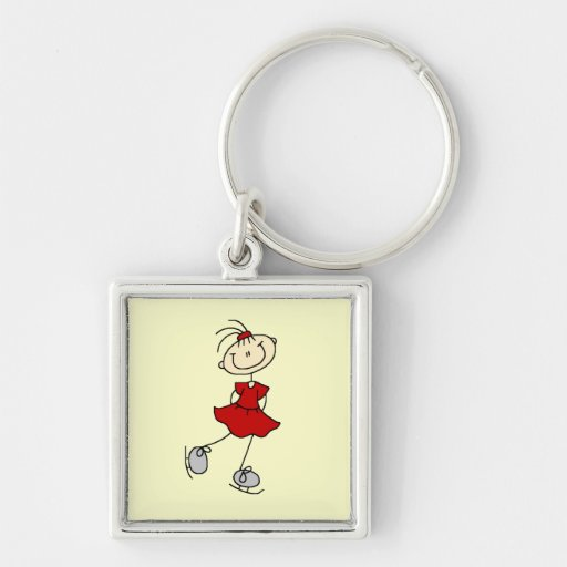 Red Dress Figure Skater Tshirts and Gifts Key Chains