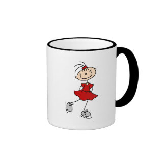 Red Dress Figure Skater Tshirts and Gifts Ringer Mug