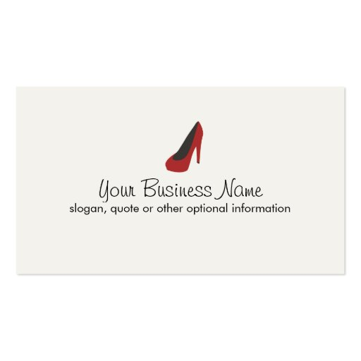 Collections of clothing store business cards page2 red dress shoe business cards reheart Gallery