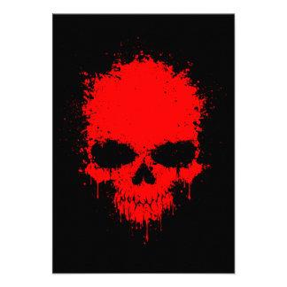 Red Dripping Splatter Skull Custom Invite