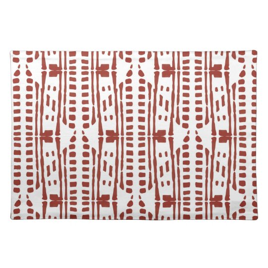 Red drops ethnic style placemat