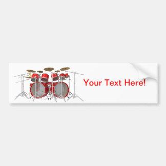 Red Drum Kit 10 Piece Bumper Sticker
