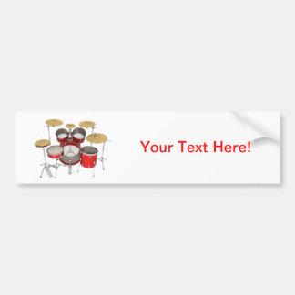 Red Drum Kit Bumper Sticker