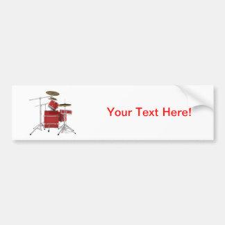 Red Drum Kit Bumper Stickers