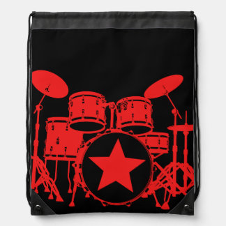 Red Drums Drawstring Bag