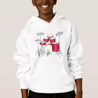 Red Drums Kids Hoodie